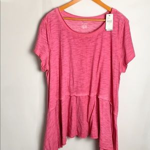 Lane Bryant Asymmetrical Scoop Neck Tee Size 22/24